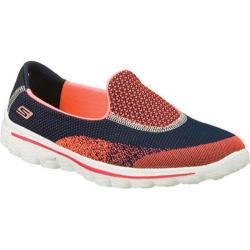 Women's Skechers GOwalk 2 Blink Navy/Coral