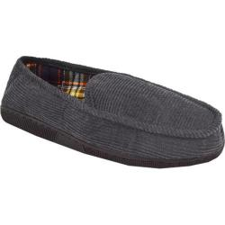 Men's MUK LUKS Corduroy Moccasin with Flannel Lining Grey