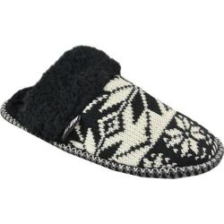 Women's MUK LUKS Fairisle Knit Scuff Black