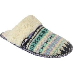 Women's MUK LUKS Fairisle Knit Scuff Purple