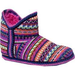 Girls' MUK LUKS Guate Fairisle Amira Pink Multi