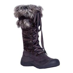 Women's MUK LUKS Gwen Tall Lace Up Snow Boot Grey Marl