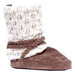 Women's MUK LUKS Judie Festival Slipper Boot Light Brown