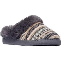 Women's MUK LUKS Knit Clogs Brown Geo