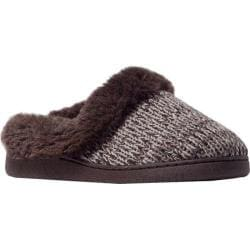 Women's MUK LUKS Knit Clogs Brown Marl