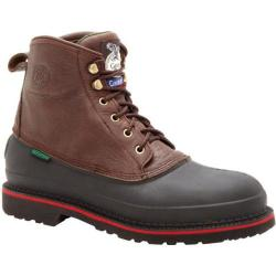 Men's Georgia Boot G66 6in Safety Toe Mud Dog Comfort Core Chocolate Full Grain Leather