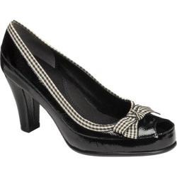 Women's Aerosoles Benefit Black/White Combo Patent Leather