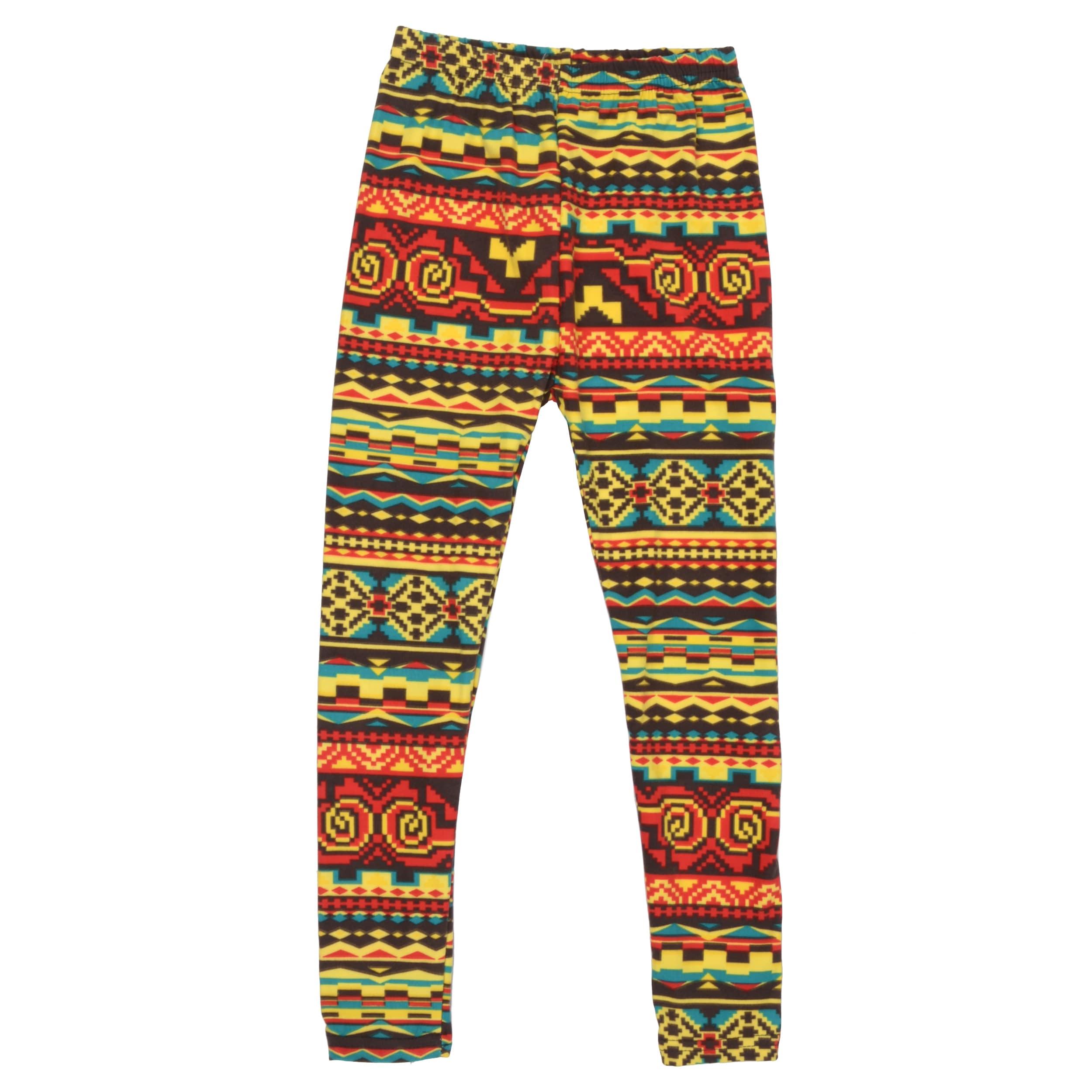 Hailey Jeans Co. Girl's Soft Aztec Print Leggings