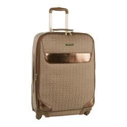 Anne Klein Signature Jacquard 28in Expandable Spinner Brown/Tan