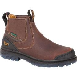 Men's Georgia Boot G104 Zero Drag WP Tall Romeo Work Shoe Brown Leather