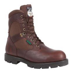 Men's Georgia Boot G107 8in Homeland Steel Toe WP Work Boot Brown Full Grain Leather/Cordura