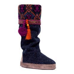 Women's MUK LUKS Marissa Tall Tassel Slipper Boot Twilight Twist