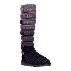 Women's MUK LUKS Miranda Marled Texture Stripe Boot Grey Ombre