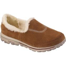 Women's Skechers GOwalk Fuzzy Chestnut