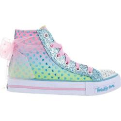 Girls' Skechers Twinkle Toes Shuffles Pixie Bunch Blue/Pink