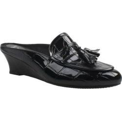 Women's J. Renee Altina Black Croco Synthetic
