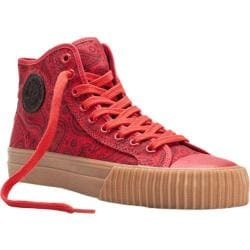 Men's PF Flyers Center Hi Paisley Red Canvas