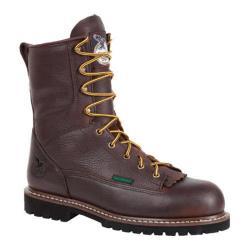 Men's Georgia Boot G101 8in Low Heel Logger Chocolate Leather