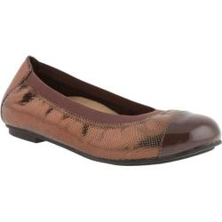 Women's Vionic with Orthaheel Technology Allora Ballet Flat Bronze Lizard