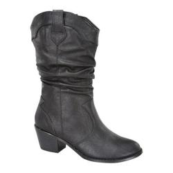 Women's Wild Diva Western-03 Black Faux Leather