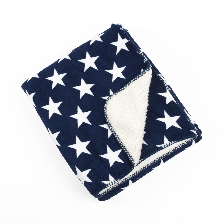 Star Design Sherpa Baby Blanket