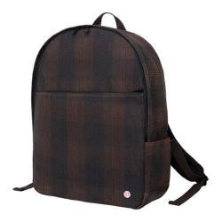 Token University Waxed Backpack Dark Brown Plaid