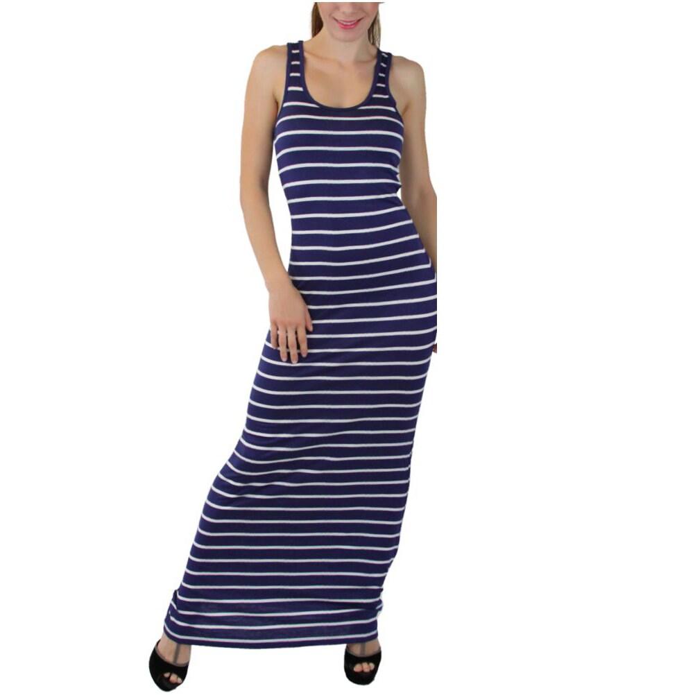 Striped Summer Racerback Maxi Dress