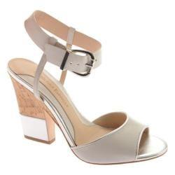Women's Carolinna Espinosa Gazillion White Leather/Silver Metallic Leather