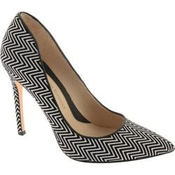 Women's Carolinna Espinosa Nala Black/White/Black Zigzag Leather