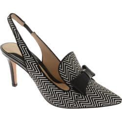 Women's Carolinna Espinosa Sylvie White/Black/Black Zigzag Leather