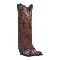 Women's Dan Post Boots Daisy Blue DP3512 Tan Sanded Leather