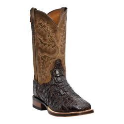 Men's Dan Post Boots Genuine Flank Caiman Stockman DP2806 Chocolate