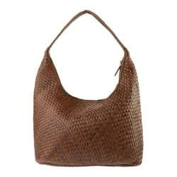 Women's R&R Leather Hobo Bag 2-206-1W Brown