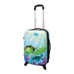 Curtis Publishing 20in Expandable 4-Wheel Carry-On Sea Turtle Adventure by Elisa Chavarri