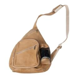 David King Leather 6318 Distressed Leather Cross Body Bag Tan