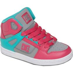 Children's DC Shoes Rebound Pink/Dark Grey