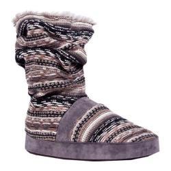 Women's MUK LUKS Jenna Scrunch Slipper Boot Fossil