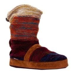 Women's MUK LUKS Jenna Scrunch Slipper Boot Terra Cotta