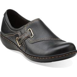 Women's Clarks Ashland Blush Black Leather