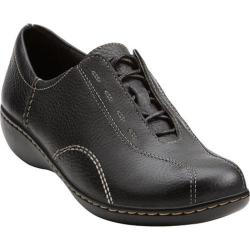 Women's Clarks Ashland Fig Black Tumbled Leather