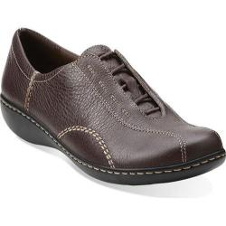 Women's Clarks Ashland Fig Brown Tumbled Leather