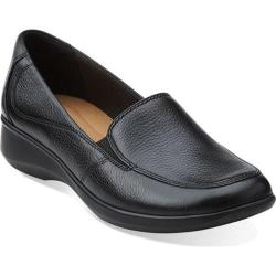 Women's Clarks Gael Angora Black Leather
