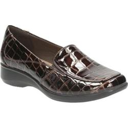 Women's Clarks Gael Angora Brown Synthetic Croco