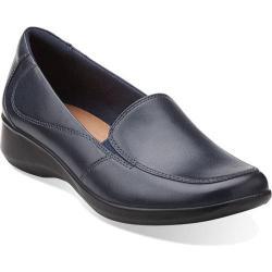 Women's Clarks Gael Angora Navy Leather