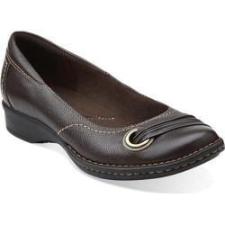 Women's Clarks Recent Drive Brown Leather