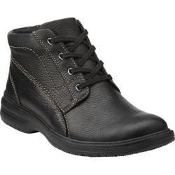 Men's Clarks Sherwin Hi Black Tumbled Leather