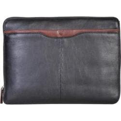 Scully Leather Laptop Portfolio w/ 2-Way Closure H329 Brown