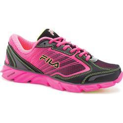 Women's Fila Fresh 3 Black/Knockout Pink/Safety Yellow