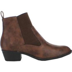 Women's Beston Chelsea-01 Brown Faux Leather