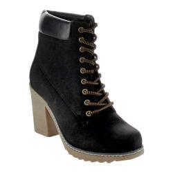 Women's Beston Forest-01 Black Faux Leather